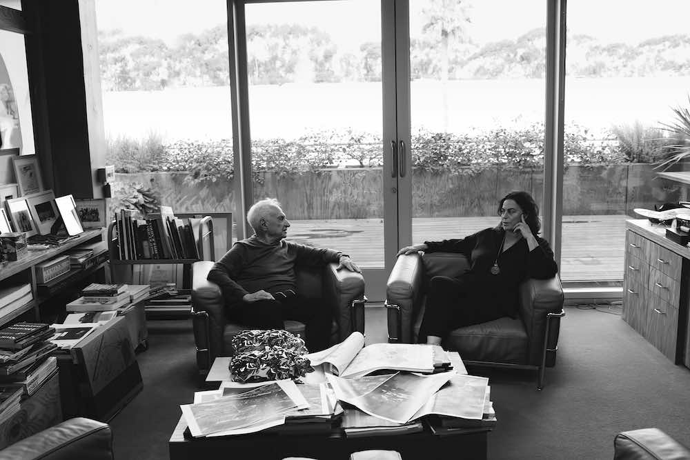 Maja Hoffmann with Frank Gehry - Photo by ©Annie Leibovitz.