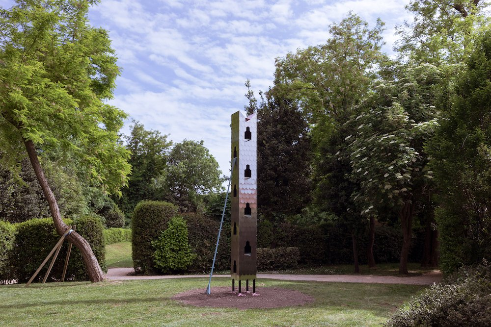 'Dovecote' tower by Studio Ossidiana @ Venice Architecture Biennale 2021 - Photo by Riccardo de Vecchi.