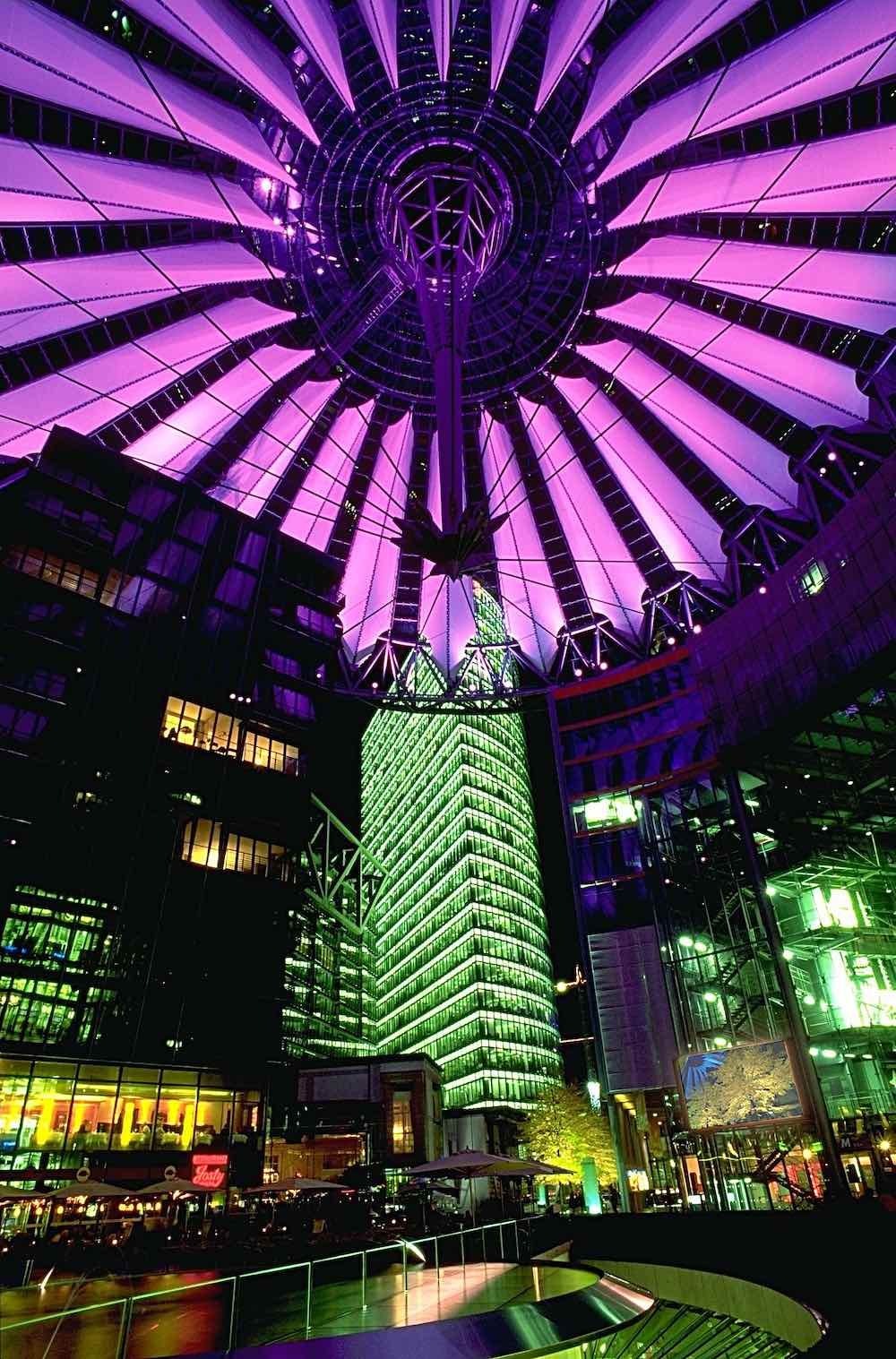 Sony Center by Helmut Jahn in Berlin, 2000 - Photo by Andreas Tille