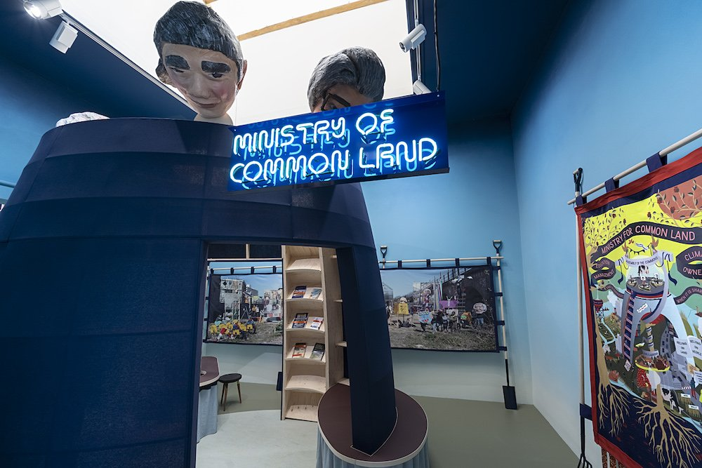 THE GARDEN OF PRIVATISED DELIGHTS, British Pavilion at Venice Biennale 2021, Ministry of Common Land - Photo by Cristiano Corte