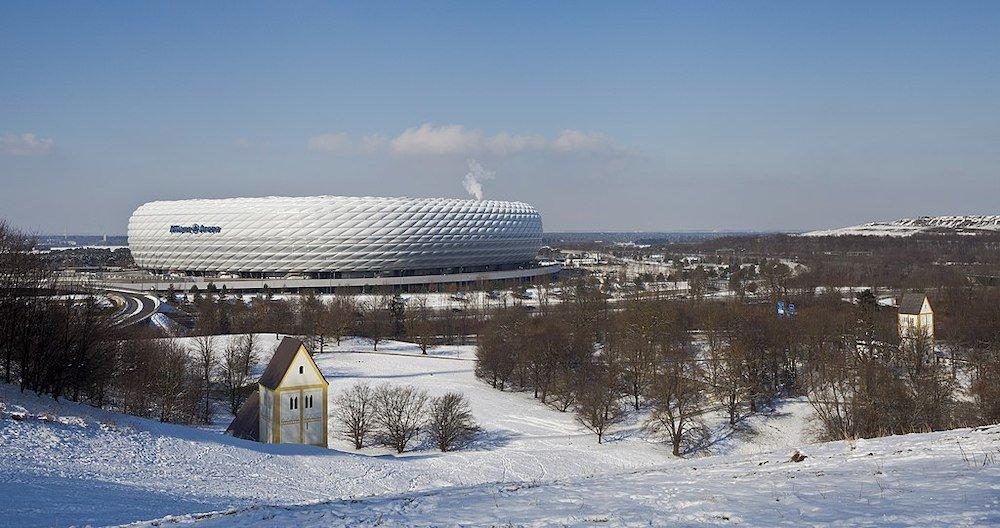 Allianz Arena, by Herzog & de Meuron in Munich, Germany - Photo via Wikimedia.