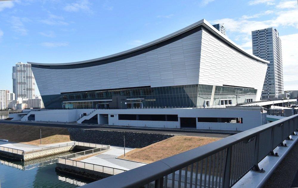 Ariake Arena by Kume Sekkei - Photo is by 江戸村のとくぞう.