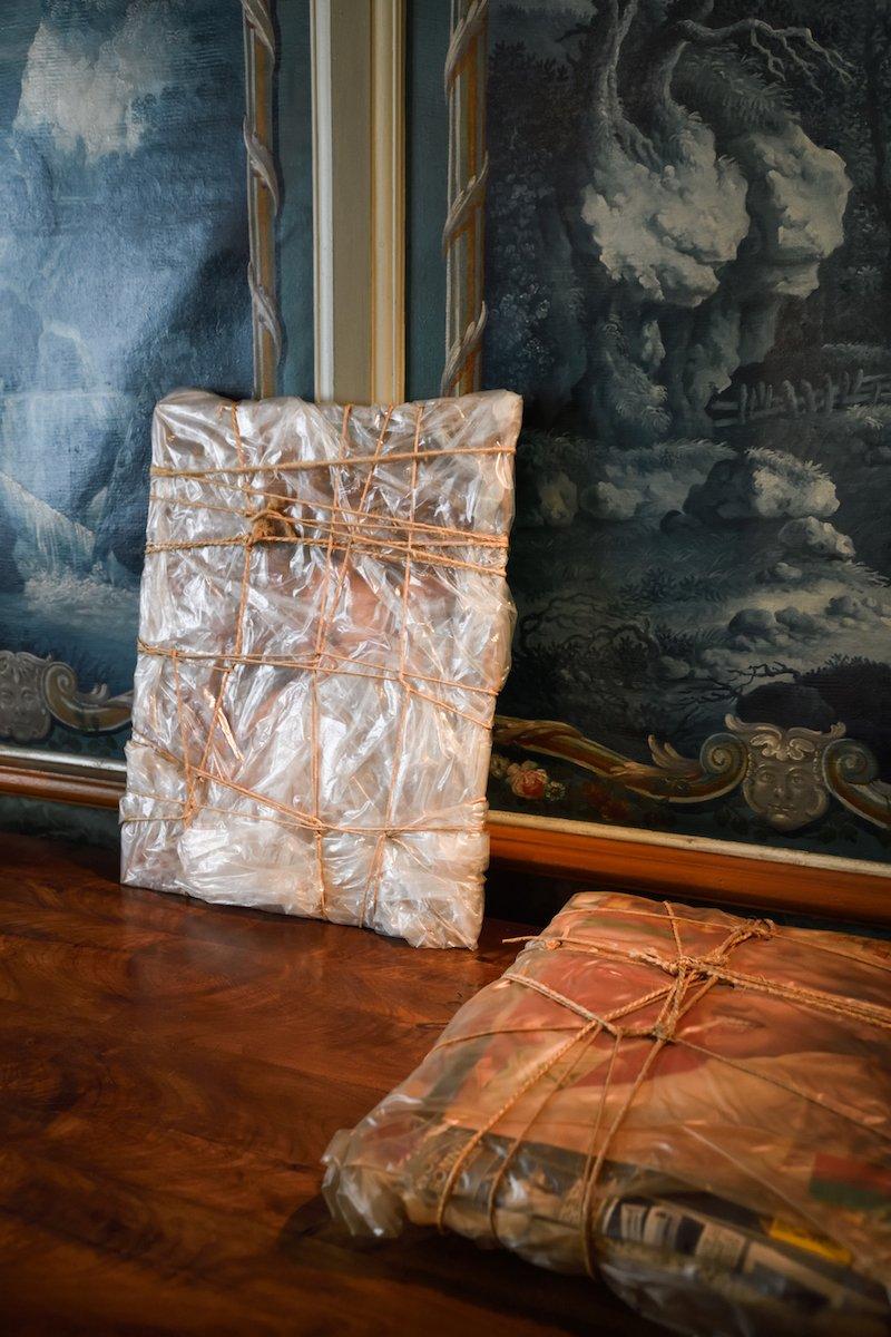 Christo's wrapped furniture @ NOMAD St. Moritz 2021.