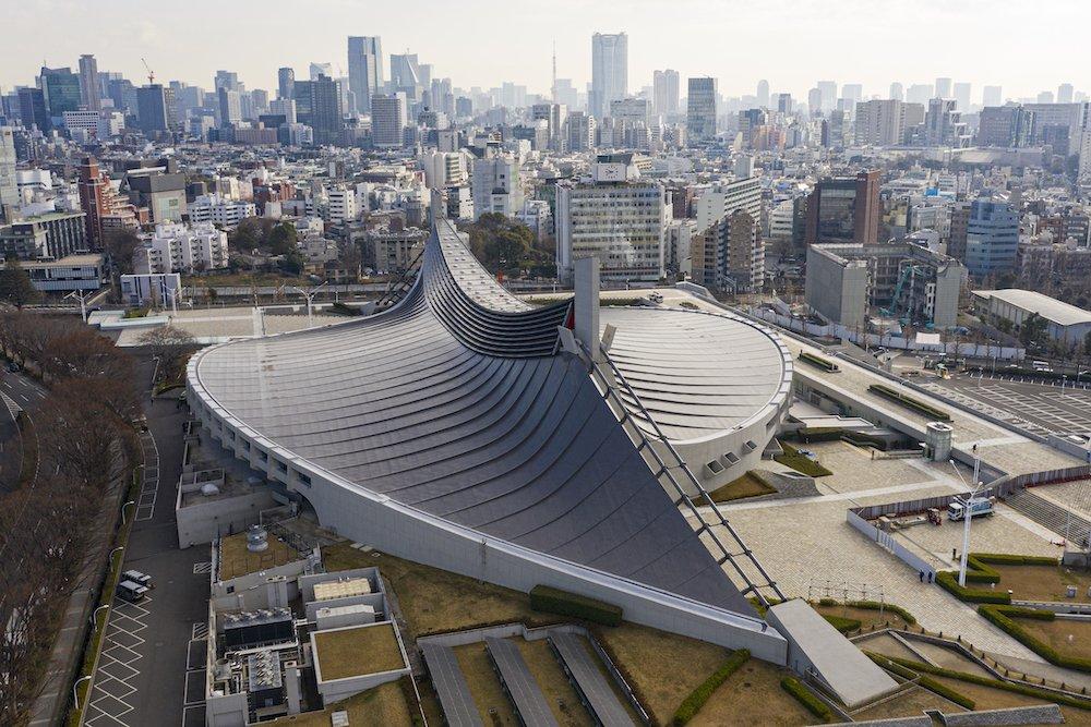 Yoyogi National Gymnasium by Kenzo Tange - Photo by Arne Müseler.