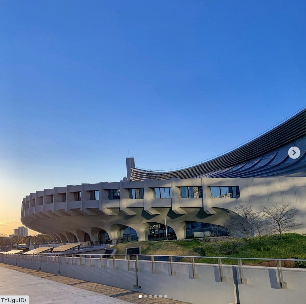 Yoyogi National Gymnasium by Kenzo Tange - Photo via IG by @kiyoka_tokyo.