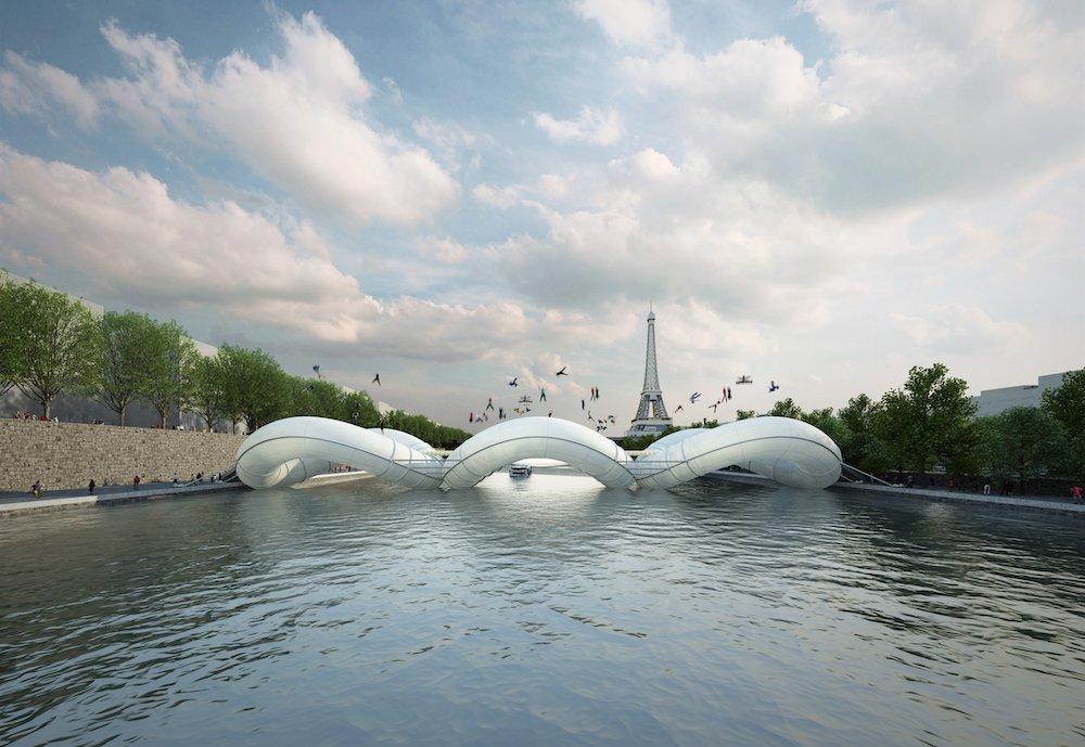 Trampoline Birdge by AZC, Paris, 2012.