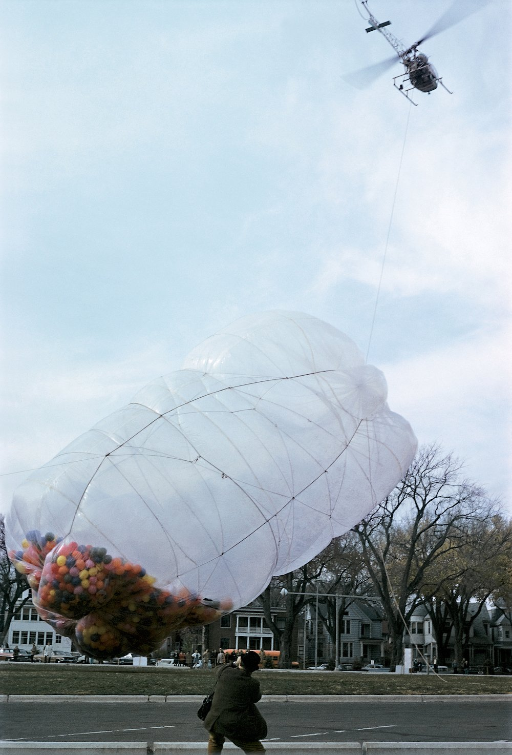 42,390 Cubic Feet Package by Christo and Jeanne-Claude - Minneapolis, Minnesota, 1966.