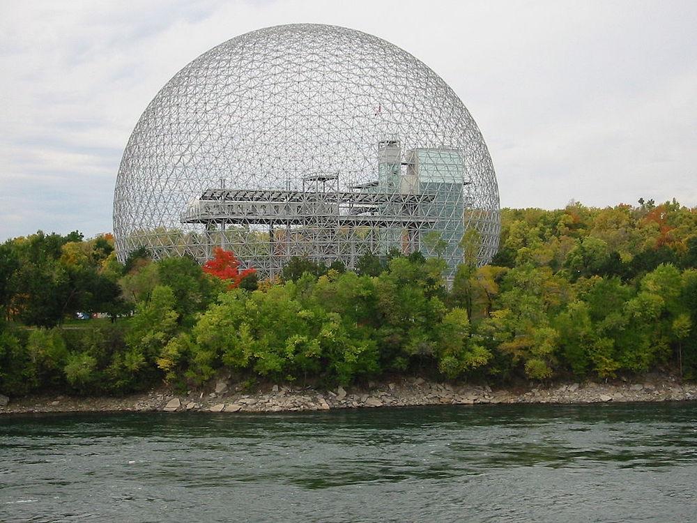 Montreal Biosphere by Buckminster Fuller - Photo by Cédric Thévenet, Wikimedia.