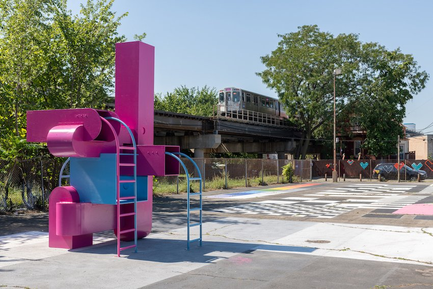 Chicago Architecture Biennial 2021, Studio Barnes @ Central Park Theater - photo Nathan Keay.