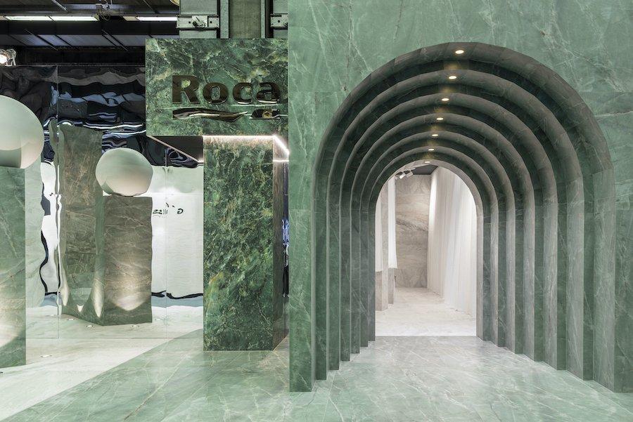 INFINITE MAJESTY by Masquespacio x Roca Tile @ Cersaie 2021 - Photo by Gregory Abbate.