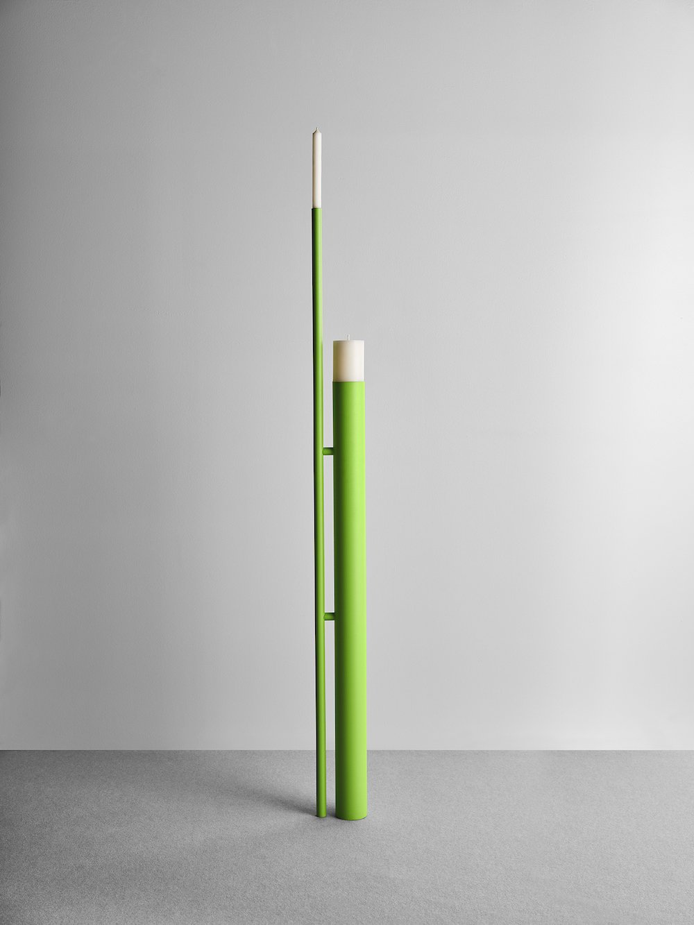 A FLAME FOR RESEARCH - Stack candleholder by Phiippe Malouin - Photo by Matteo Imbriani.