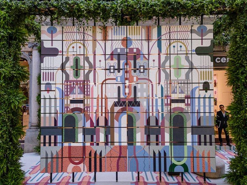 CEDIT installation by Elena Salmistraro, MDW 2021.