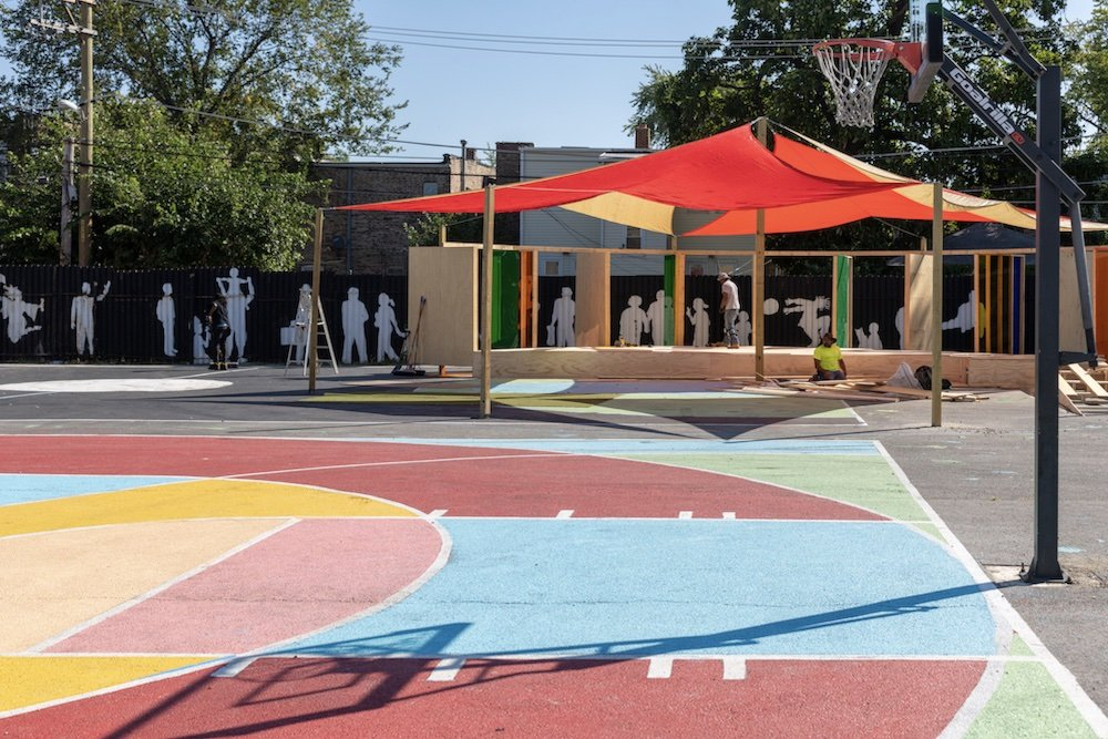 PROJECT HOOD by Norman Teague Design Studios and BNMO Design @ Chicago Architecture Biennial 2021 - Photo by Nathan Keay.