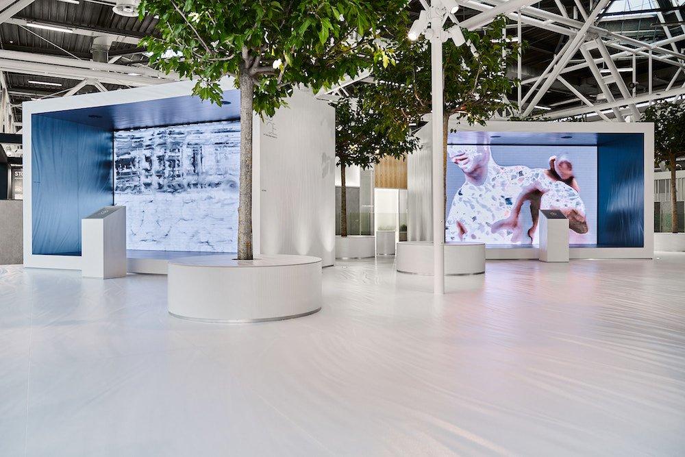 Iris Ceramica Group's booth at Cersaie 2021 - Photo by Iris Ceramica Group.
