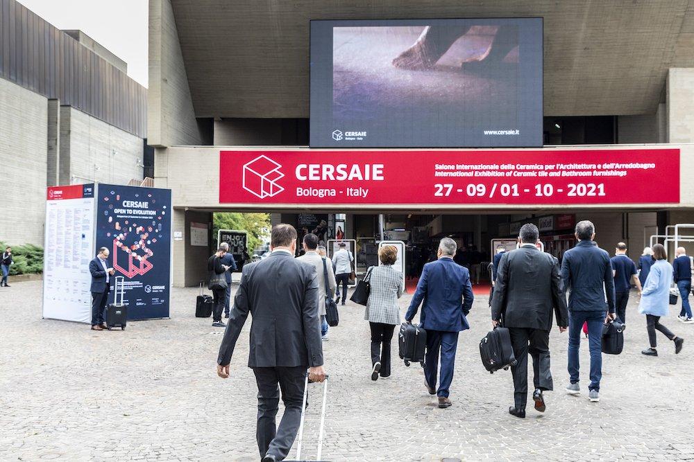 Cersaie2021, entrance - Photo by Cersaie.