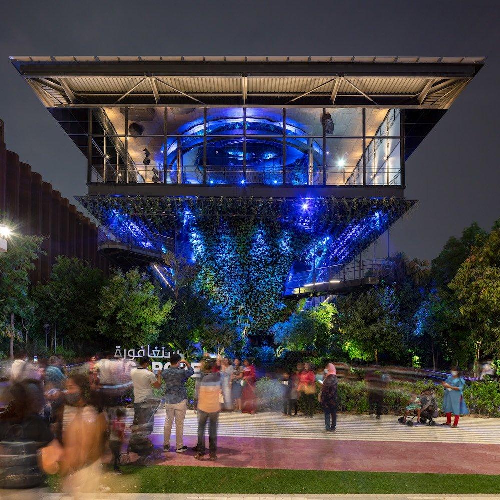 'Biomorphosis' light show at the Singapore Pavilion @ Dubai Expo - © Singapore Pavilion.