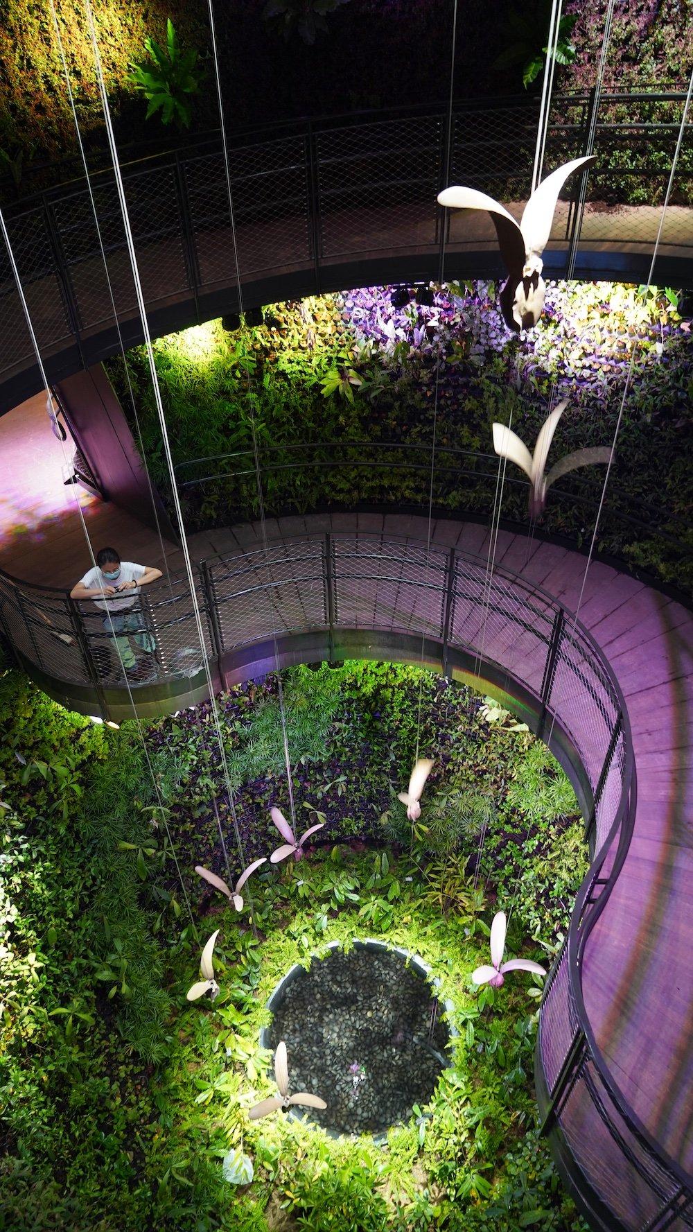 Singapore Pavilion @ Dubai Expo - Dipterocarp seed kinetic sculptures in the Rainforest Cone.